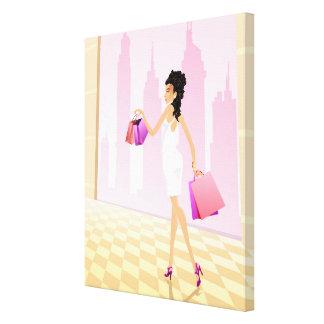 Elixir de la impresión 3 de la lona de las compras lienzo envuelto para galerías
