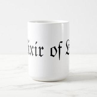 Elixir de la vida taza básica blanca