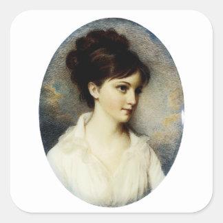 Eliza Izard (señora Thomas Pinckney, Jr.), 1801 Pegatina Cuadrada