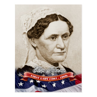 Eliza Johnson, primera señora de los E.E.U.U. Tarjetas Postales