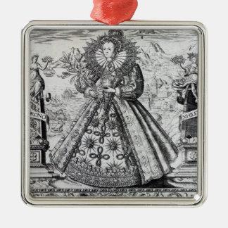 Eliza Triumphans, 1589 Metal Ornament