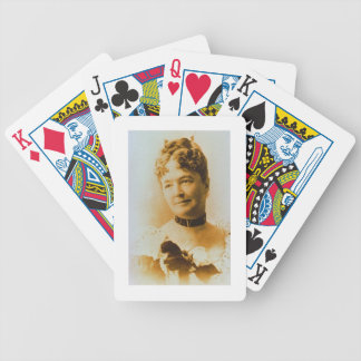 Elizabeth Bacon Custer (1842-1933) wife of General Bicycle Playing Cards
