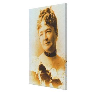 Elizabeth Bacon Custer (1842-1933) wife of General Canvas Print