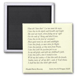 Elizabeth Barrett Browning - 42 Imán Cuadrado