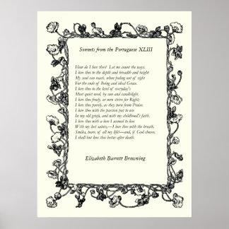 Elizabeth Barrett Browning - 42 Póster