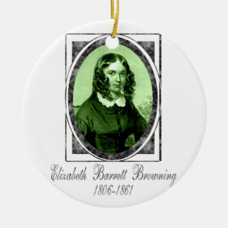 Elizabeth Barrett Browning Ceramic Ornament