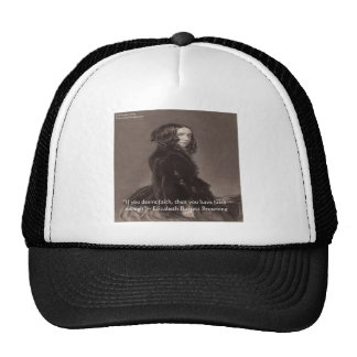 Elizabeth Barrett Browning Faith Desire Quote Hats