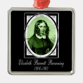 Elizabeth Barrett Browning Metal Ornament