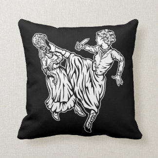 Elizabeth Bennett Kicks Ass Throw Pillow