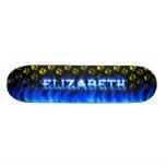 Elizabeth blue fire Skatersollie skateboard.