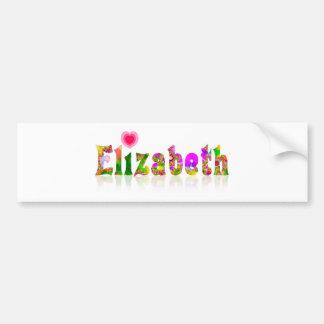 Elizabeth Car Bumper Sticker