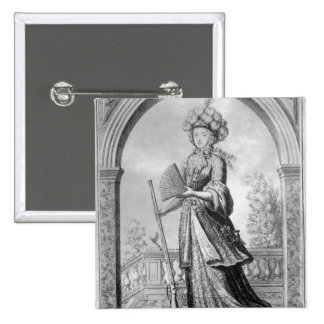 Elizabeth Charlotte of the Palatinate 2 Inch Square Button