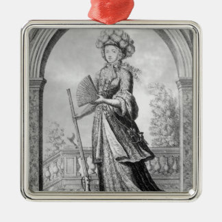 Elizabeth Charlotte of the Palatinate Metal Ornament