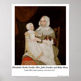 Elizabeth Clarke Freake y bebé Maria - poster