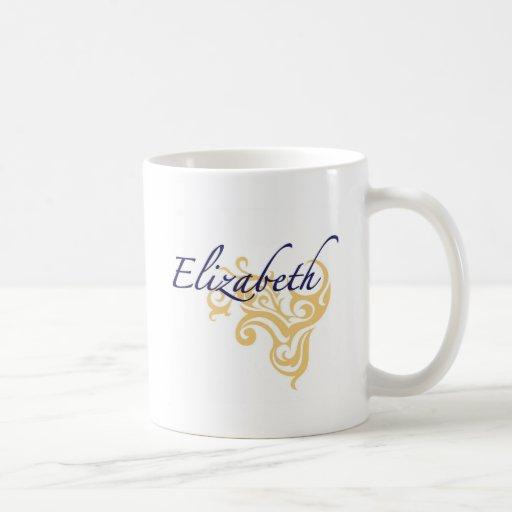 Elizabeth Classic White Coffee Mug