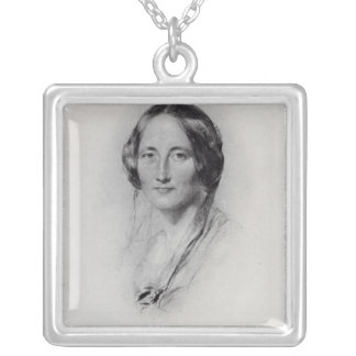 Elizabeth Cleghorn Gaskell Square Pendant Necklace