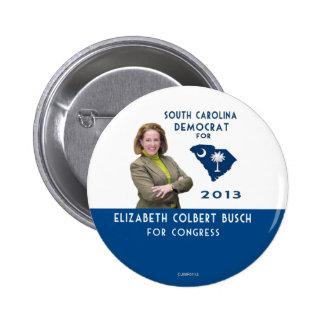 Elizabeth Colbert Busch para el botón del congreso Pin Redondo De 2 Pulgadas