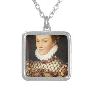 Elizabeth de Austria, reina de Francia Collar Plateado