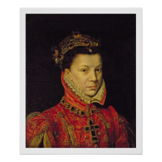 Elizabeth de Valois (1545-68) 1570 (aceite en lona Póster