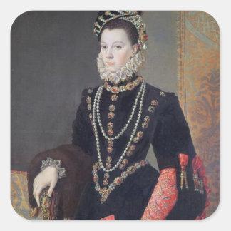 Elizabeth de Valois, 1604-8 Square Sticker