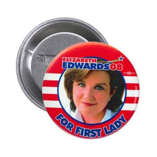 Elizabeth Edwards - botón Pin Redondo De 2 Pulgadas