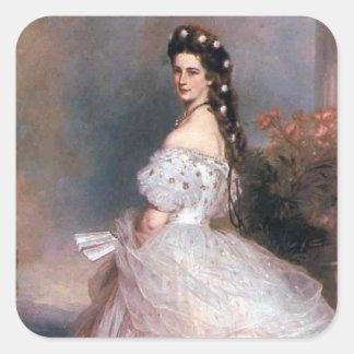 Elizabeth, emperatriz de Austria, 1865 Pegatina Cuadrada