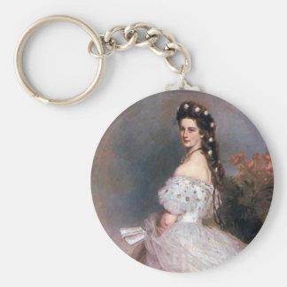 Elizabeth , Empress of Austria, 1865 Basic Round Button Keychain
