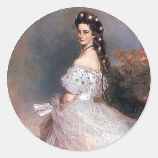 Elizabeth , Empress of Austria, 1865 Classic Round Sticker