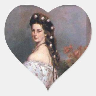 Elizabeth , Empress of Austria, 1865 Heart Sticker