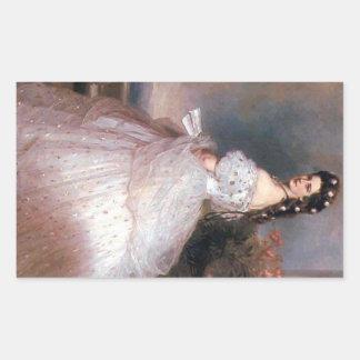 Elizabeth , Empress of Austria, 1865 Rectangular Sticker