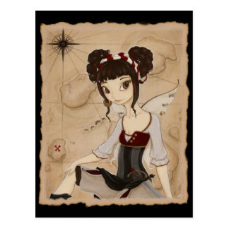 Elizabeth - Fairy pirate postcard