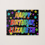 "[ Thumbnail: ""Elizabeth"" First Name, Fun ""Happy Birthday"" Jigsaw Puzzle ]"