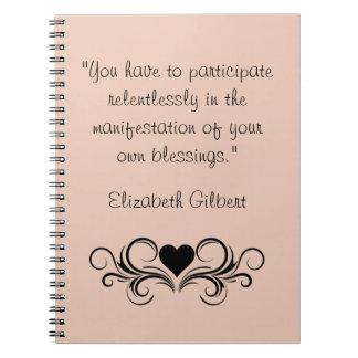 Elizabeth Gilbert Quote Notebook