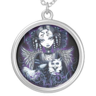 """Elizabeth"" Gothic Victorian Angel Necklace"