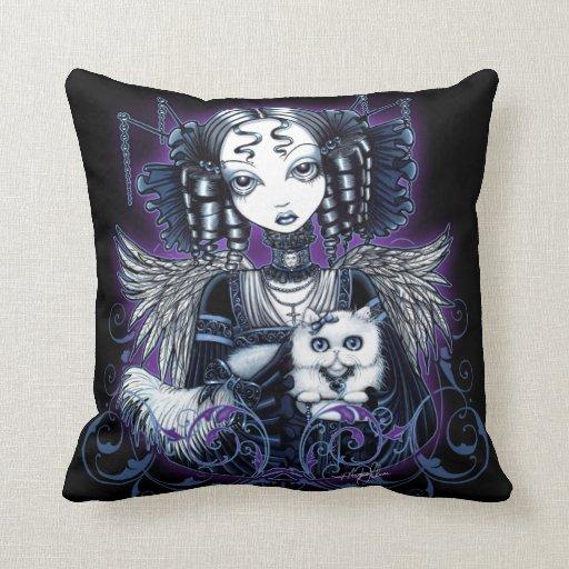 Elizabeth Gothic Victorian Angel Throw Pillow
