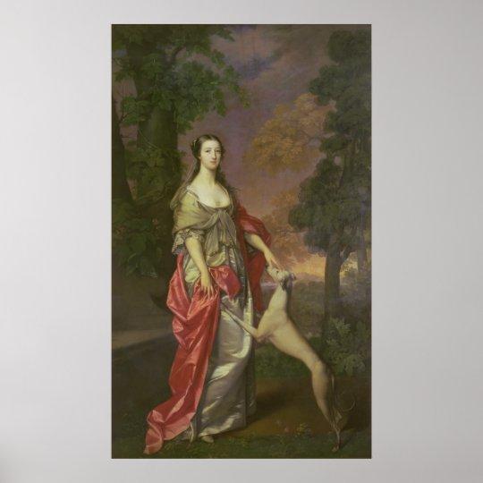 Elizabeth Gunning, Duchess of Hamilton, 1752-3 Poster