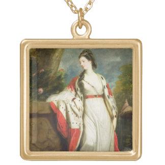 Elizabeth Gunning, Duchess of Hamilton and Duchess Square Pendant Necklace