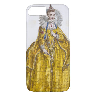 Elizabeth I (1530-1603) (coloured engraving) iPhone 7 Case