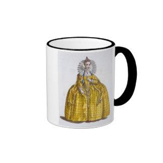 Elizabeth I (1530-1603) (coloured engraving) Ringer Coffee Mug