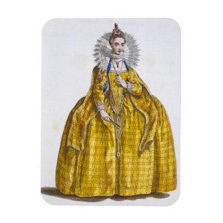 Elizabeth I 1530-1603 coloured engraving Rectangle Magnets