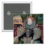 Elizabeth I, Armada Portrait, c.1588 2 Inch Square Button