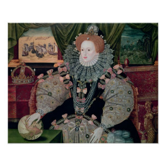 Elizabeth I, Armada Portrait, c.1588 Print