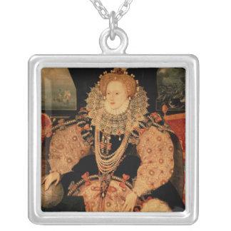 Elizabeth I, Armada portrait, c.1588 Silver Plated Necklace
