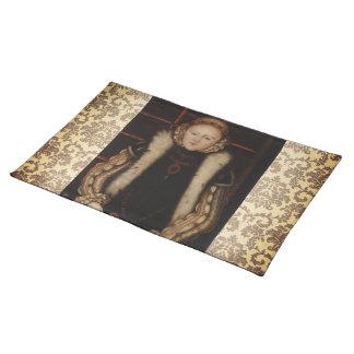 Elizabeth I Circa 1560 Cloth Placemat