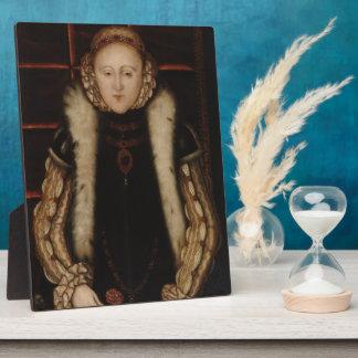 Elizabeth I Circa 1560 Display Plaque