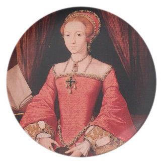 Elizabeth I como princesa Plato
