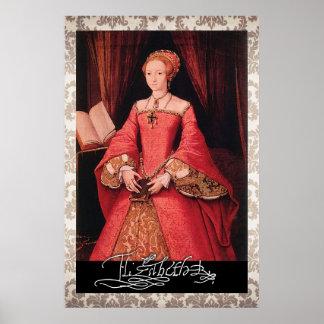 Elizabeth I como princesa Póster