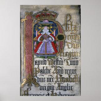 Elizabeth I, Coram Rege Rolls Posters