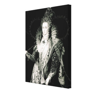 Elizabeth I drawn by W.Derby and engraved by Canvas Print