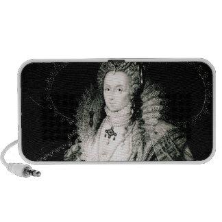 Elizabeth I drawn by W.Derby and engraved by Portable Speaker